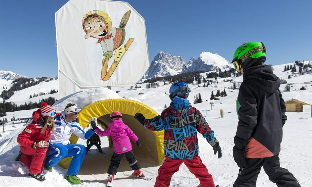 Ski vacation with children in Siusi and Castelrotto