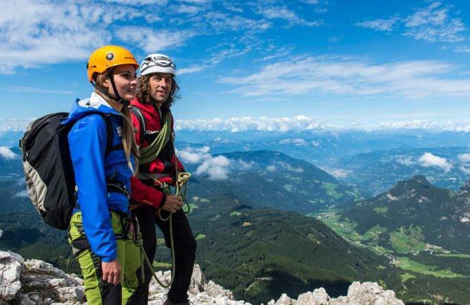 Klettern und Wandern auf der Seiser Alm